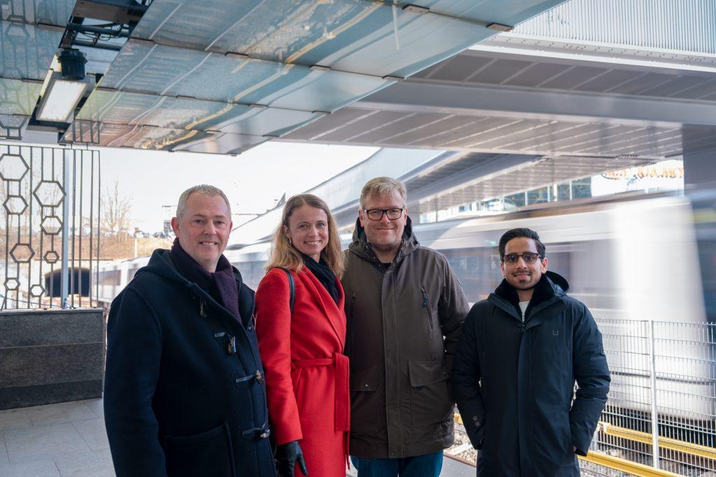 Anskaffelseskonsulentene fra UKE på Ensjø T-banestasjon, april 2019. Foto: Nikolai Kobets Freund
